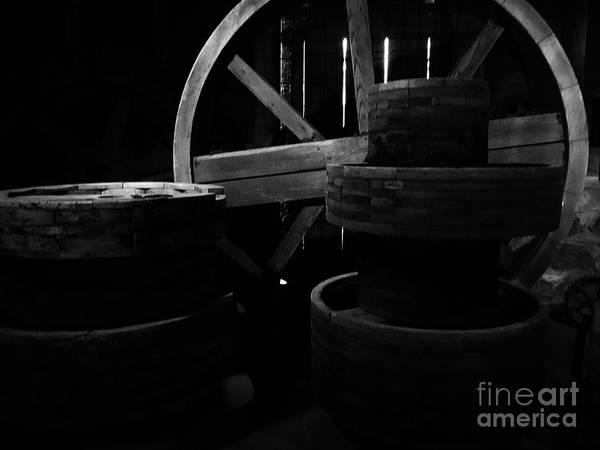 Bonneyville Mill Wall Art - Photograph - Wheels by Tina M Wenger