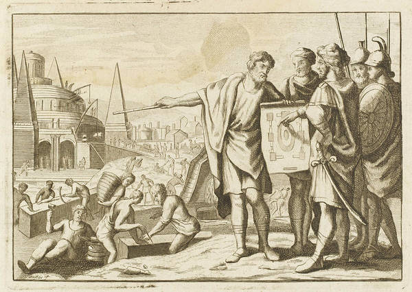 Reconstruction Drawing - When Babylon Has Been Taken By  Kurash by Mary Evans Picture Library