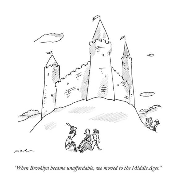Travel Drawing - When Brooklyn Became Unaffordable by Michael Maslin