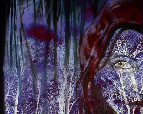 Cloak Digital Art - When Darkness Beckons by Shana Rowe Jackson