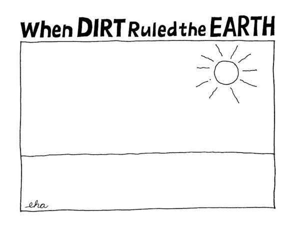 Sky Drawing - 'when Dirt Ruled The Earth' by Edward H. Allison
