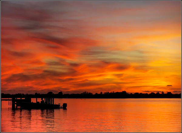 Fire In The Sky Wall Art - Photograph - When God Paints by Karen Wiles
