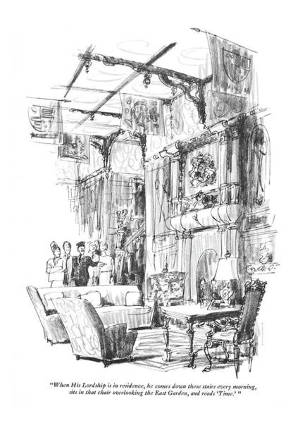 Time Is Money Drawing - When His Lordship Is In Residence by Charles Saxon