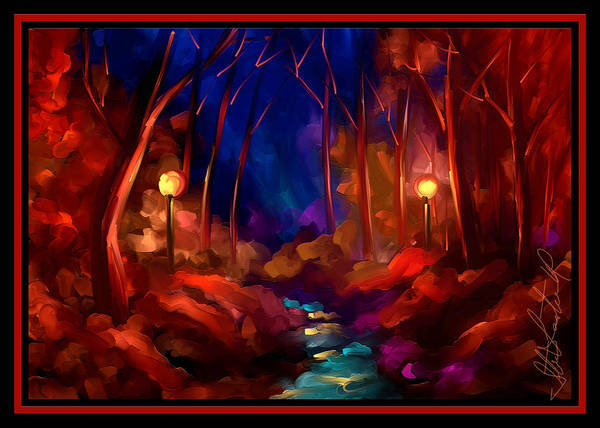 Wall Art - Painting - When I Dream At Night by Steven Lebron Langston