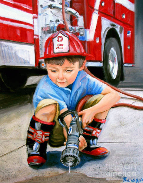 Wall Art - Painting - When I Grow Up by Paul Walsh