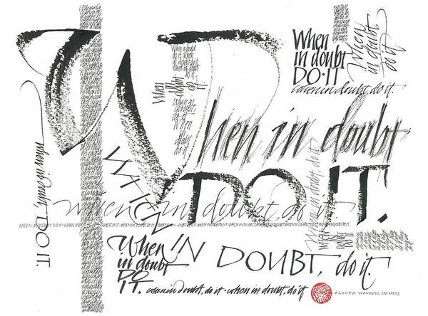 Drawing - When In Doubt by Sally Penley