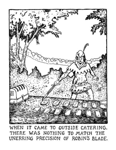 Line Up Drawing - When It Came To Outside Catering by Glen Baxter