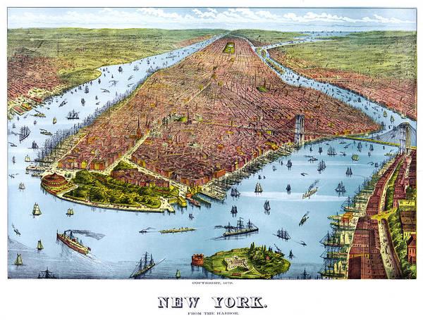 Midtown Manhattan Digital Art - When New York Was Flat by Georgia Fowler