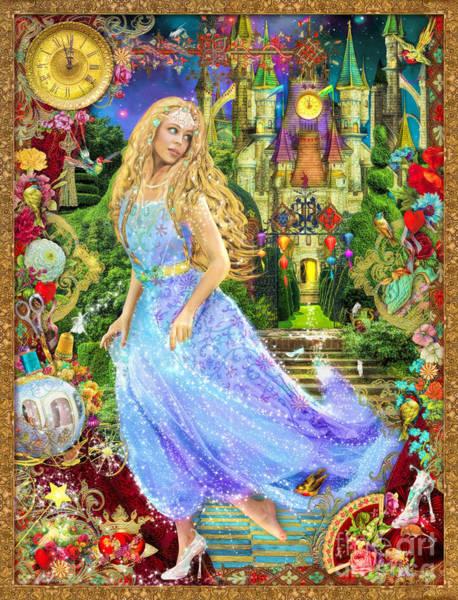 Cinderella Wall Art - Digital Art - When The Clock Strikes Midnight Variant 1 by MGL Meiklejohn Graphics Licensing