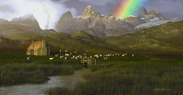Digital Art - When The Grass Was Greener by Dieter Carlton