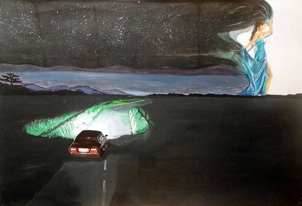 Wall Art - Painting - When The Night Start To Walk Listen With Music Of The Description Box by Lazaro Hurtado