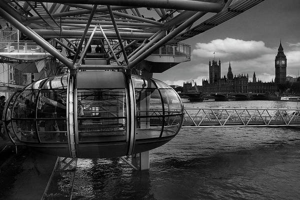 London Eye Photograph - When The Past Meets The Future by Paulo Penicheiro