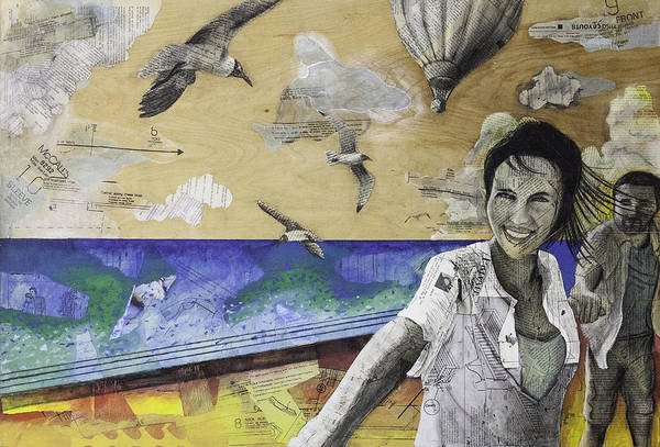 Seagulls Mixed Media - When We Were Together by Giorgio Russo