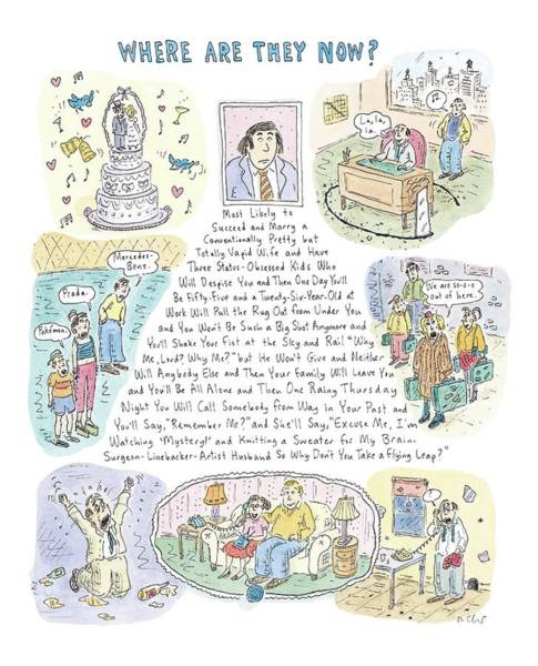 Failure Drawing - 'where Are They Now?' by Roz Chast