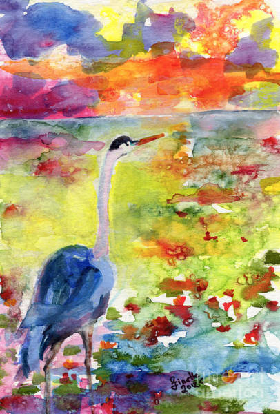 Painting - Where Blue Herons Dream by Ginette Callaway