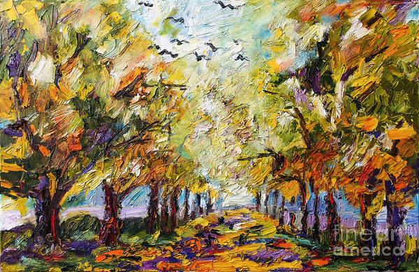 Painting - Where Crows Dream Autumn Landscape by Ginette Callaway