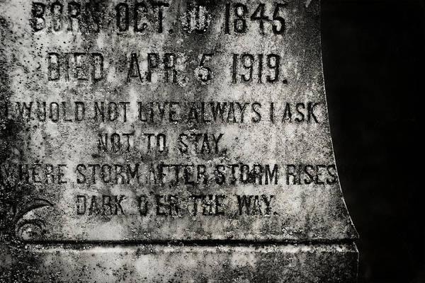 Muhlenberg Photograph - Where Dark Storms Rise by Rebecca Sherman