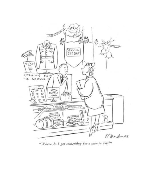 4 Seasons Drawing - Where Do I Get Something For A Man In 4-f? by Roberta Macdonald