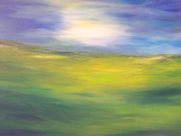 Where Land Sea And Sky Meet  Sun In My Eyes Art Print