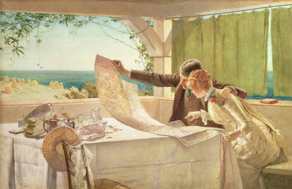 Linen Wall Art - Painting - Where Next by Edward Frederick Brewtnall