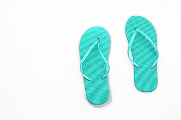 Photograph - Where On Earth Is Spring - My Aqua Flip Flops Are Waiting by Andee Design