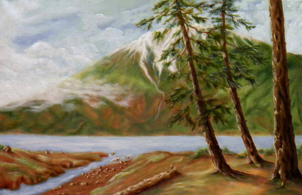 Sand Creek Painting - Where The Waters Flow by Ida Eriksen