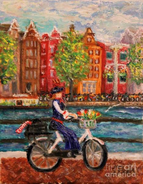 Delta Air Lines Wall Art - Painting - Where To ... Amsterdam by Tracey Peer