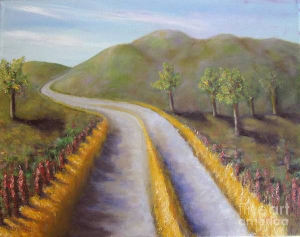 Painting - Autumn Road by Laurie Morgan