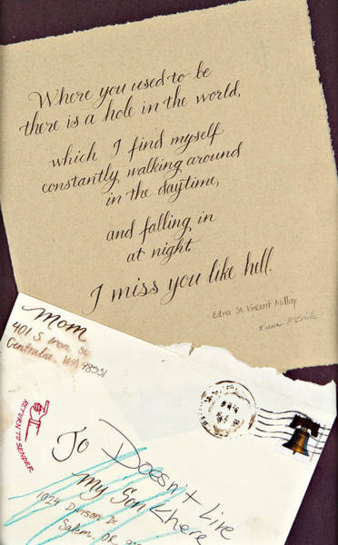 Love Letter Mixed Media - Where You Used To Be by Raina McBride