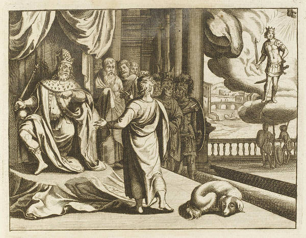 Interpret Drawing - While Nebuchadnezzar Listens  While by Mary Evans Picture Library
