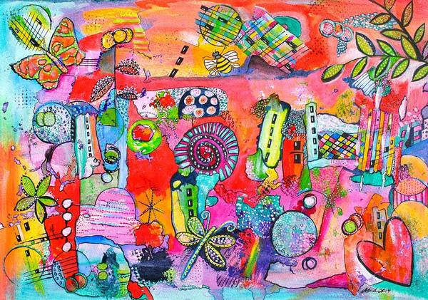 Mojo Painting - Whimsical Flow by Astrid Rosemergy