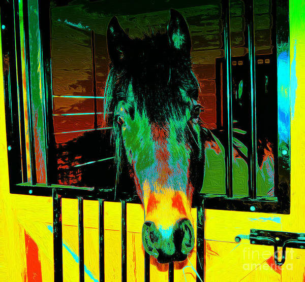 Posterize Photograph - Whimsical Horse by Mim White