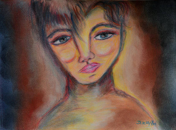 Colored Pencils Mixed Media - Whimsical Imp by Donna Blackhall