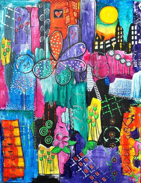 Mojo Painting - Whimsical Nights by Astrid Rosemergy