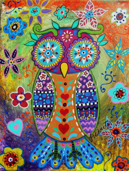 Wall Art - Painting - Whimsical Owl by Pristine Cartera Turkus