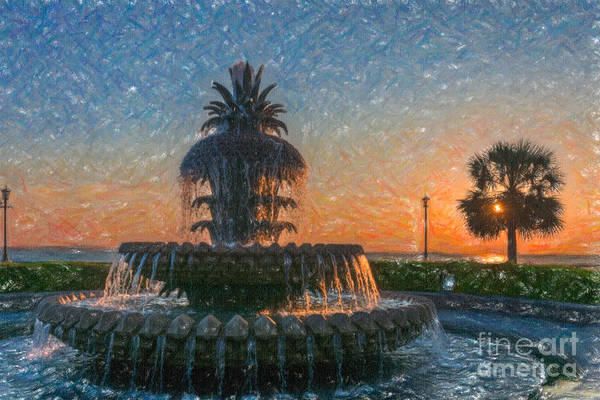 Photograph - Whimsical Pineapple Sunrise by Dale Powell