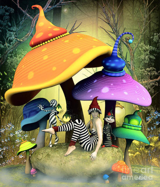 Digital Art - Whimsical Wonderland by Jutta Maria Pusl