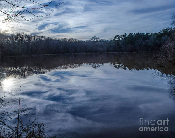 Lake Juliette Photograph - Whipped Cream Christmas Reflection by Donna Brown