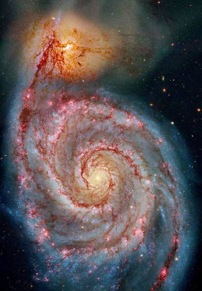 Wall Art - Photograph - Whirlpool Galaxy In Dust by Benjamin Yeager
