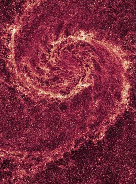 Photograph - Whirlpool Galaxy, Infrared Hst Image by Science Photo Library