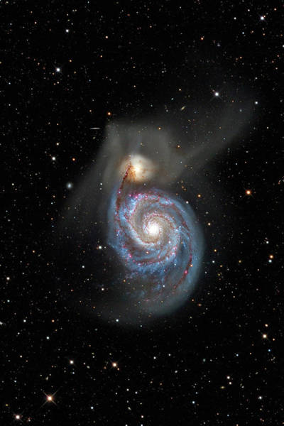 Wall Art - Photograph - Whirlpool Galaxy (m51) by Russell Croman/science Photo Library