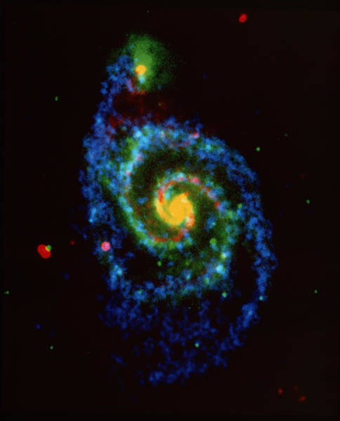 Interacting Galaxies Wall Art - Photograph - Whirlpool Galaxy by Nrao/aui/nsf/science Photo Library