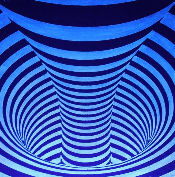 Blacklight Painting - Whirlpool by Twilight Vision