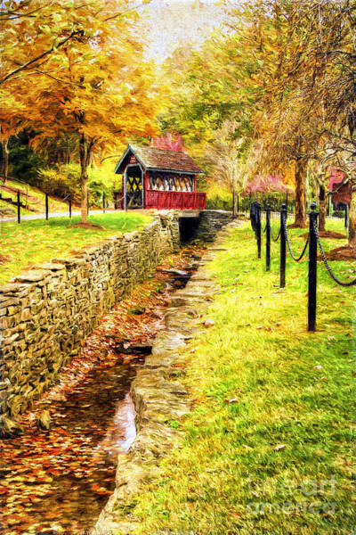 Red Covered Bridge Photograph - Whisky Creek by Darren Fisher
