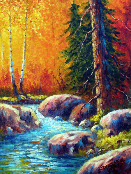 Wall Art - Painting - Whispering Stream by David G Paul