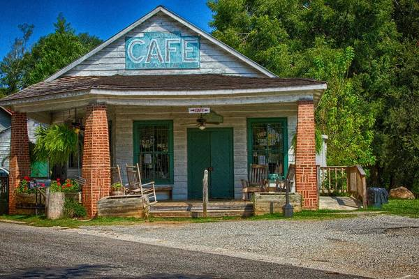 Photograph - Whistle Stop Cafe by Heather Roper