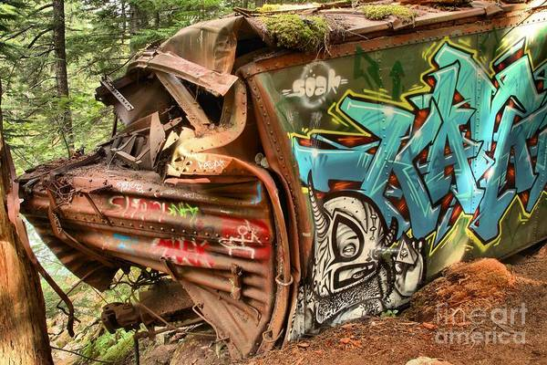 Train Derailment Photograph - Whistler Train Wreck Stopping Point by Adam Jewell