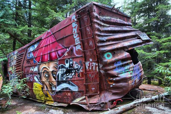 Photograph - Whistler Train Wreckage In The Forest by Adam Jewell