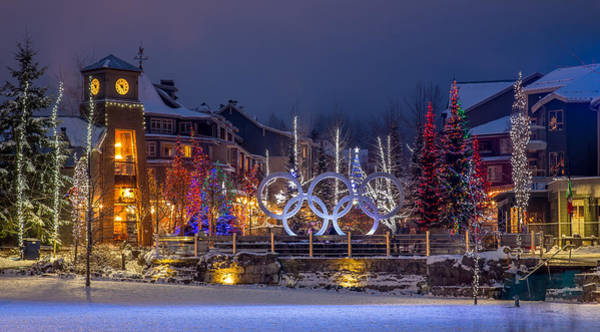 Photograph - Whistler Village Olympic Plaza by Pierre Leclerc Photography