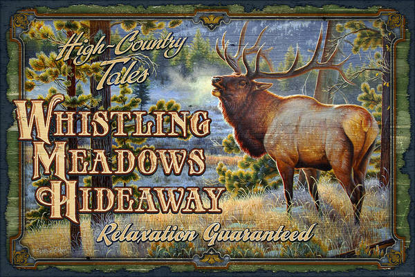 Wall Art - Painting - Whistling Meadows Elk by JQ Licensing